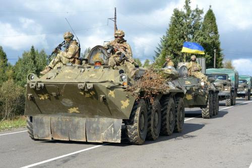 Übung der ukrainischen Armee