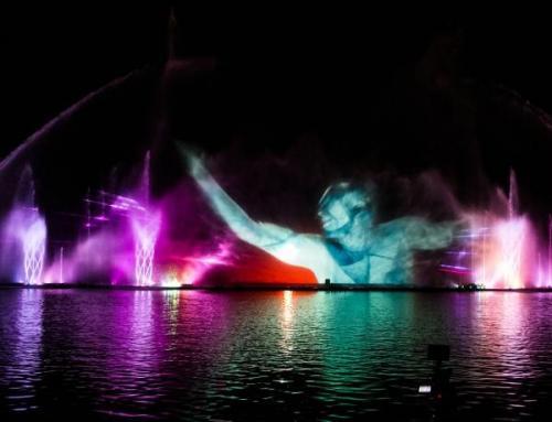 Musikalische Lichtshow am Roshen-Brunnen. Foto fountainroshen.com