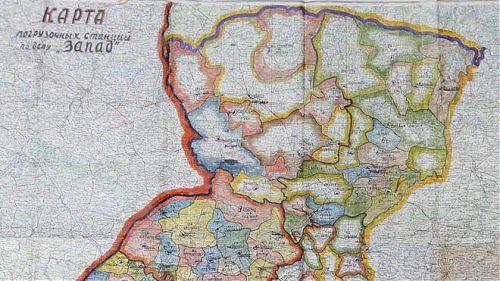 """Karte zur Durchführung der Aktion """"Westen"""""""