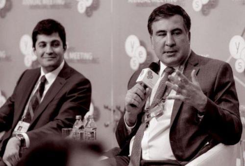 Michail Saakawschwili und David Sakwarelidse beim YES-Forum