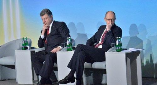 Pjotr Poroschenko und Arsenij Jazenjuk
