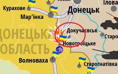 Dokutschajewsk, wie auch Debalzewo, sollte gemäß Minsk unter Kontrolle der Ukraine stehen