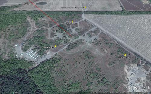 """Feldlager """"Aleksandrowka"""" der russischen Invasionstruppen am 05.09.2014 (unmittelbar nach Beginn der Invasion)"""