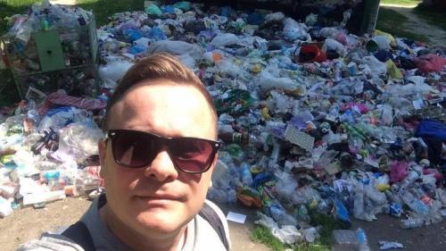 Müllselfie in Lwiw