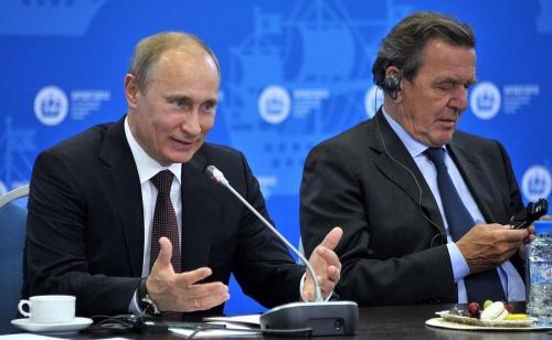 Wladimir Putin und Gerhard Schröder