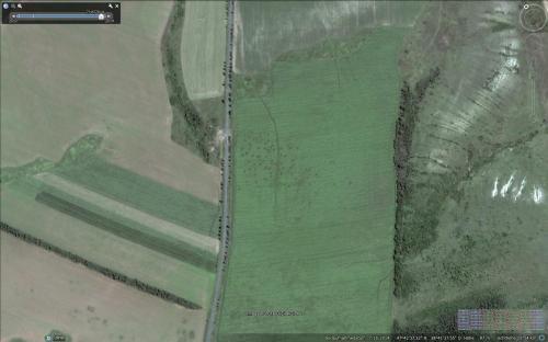 Stellungen der ukrainischen Grenztruppen am 16.07.2014 zu Beginn der massiven Artillerieangriffe aus Russland