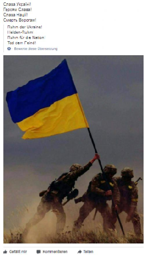 Ukraine-Patrioten bei Facebook