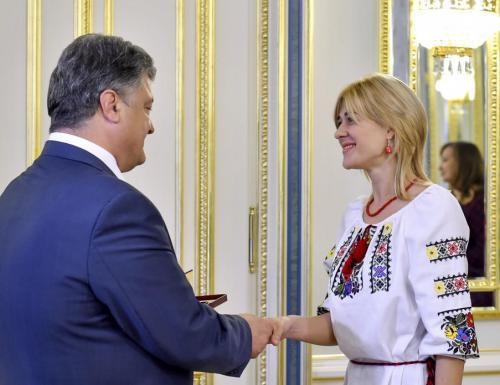 Petro Poroschenko und Violetta Makedon