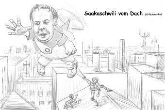Andrij Makarenko: Saakaschwili vom Dach
