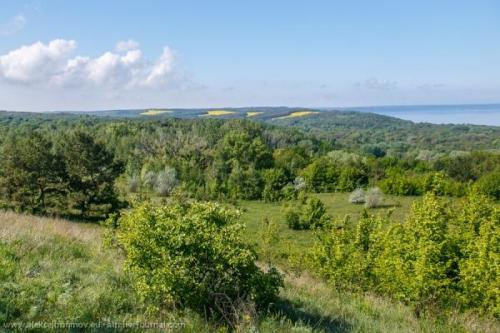 Landschaft der Trachtymyriw-Halbinsel