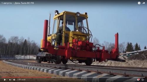 Verlegung von Eisenbahnschienen