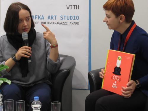 Romana Romanyshyn erklärt die künstlerischen Intuitionen und Vorgehensweisen von Agrafka