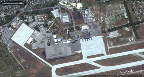 Flughafen Donezk vorher