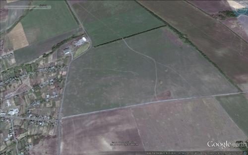 Grenzdurchbruch und Invasion der russischen Armee bei Maryniwka 20.-26.08.2014 Auswirkungen des russischen Artilleriebeschusses ukrainische Stellungen in der Nähe der Grenze am 15.08.2014
