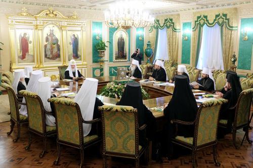 Sitzung der Heiligen Synode der russisch-orthodoxen Kirche