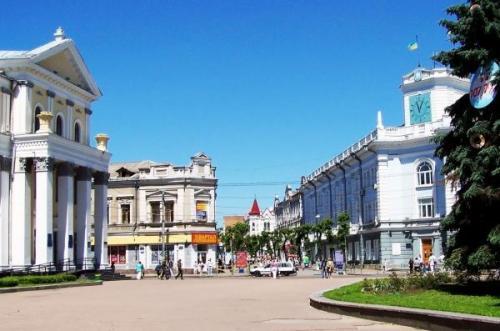 Der Hauptplatz von Schytomyr. Foto sevsovet.com.ua
