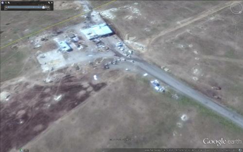 Beschuss der Grenzanlagen aus Russland – Stand der Zerstörungen am 15.08.2014