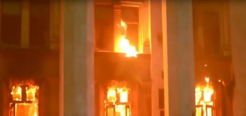 Brand am 2. Mai 2014 im Gewerkschaftshaus in Odessa