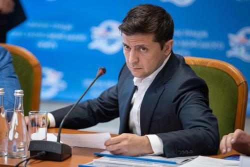 Präsident Wolodymyr Selenskyj bei einem Arbeitsbesuch im Gebiet Odessa