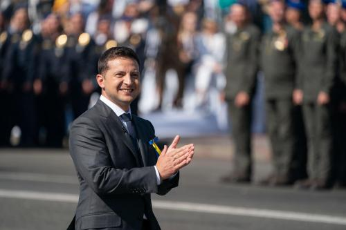 Wolodymyr Selenskyj bei den Feiern zum ukrainischen Unabhängigkeitstag am 24. August 2019