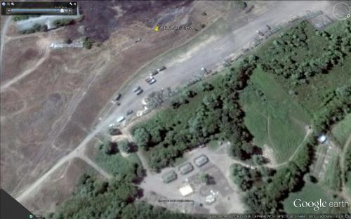 Ein Feldlager rund 6 Km vor der Grenze bei Maryniwka am 15.08.2014