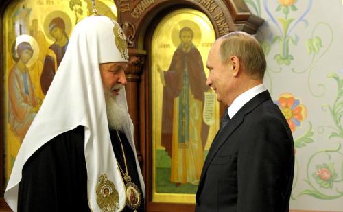 Patriarch Kyrill I. und der russische Präsident Wladimir Putin