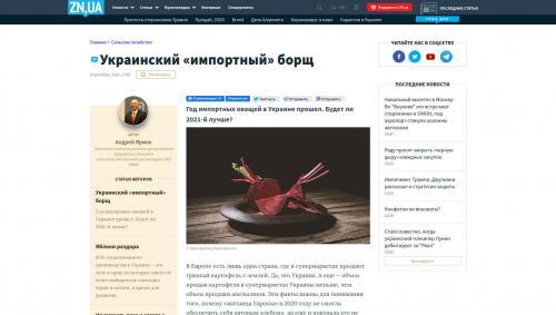 importierter ukrainischer Borschtsch