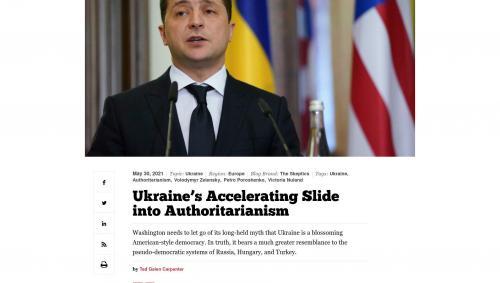 "Andreas Umland zu Ted Carpenters ""Ukraine's Accelerating Slide into Authoritarianism"""