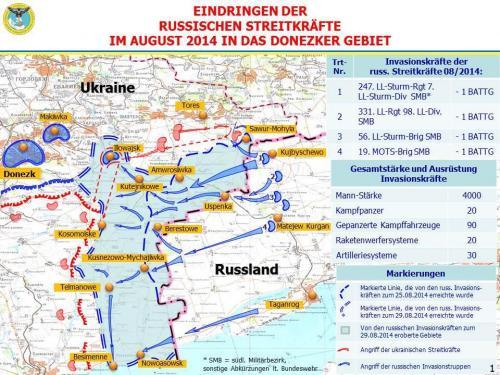 Eindringen der russischen Streitkräfte im August 2014 in das Donezker Gebiet