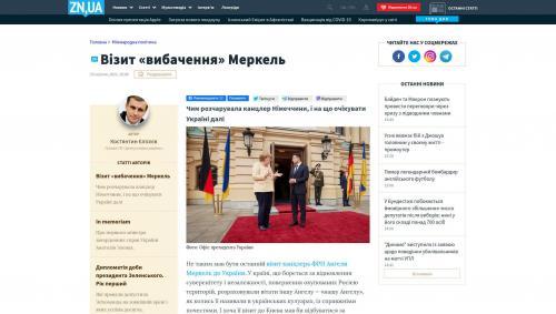 """Merkels """"Entschuldigungs""""-Besuch bei Selenskyj"""