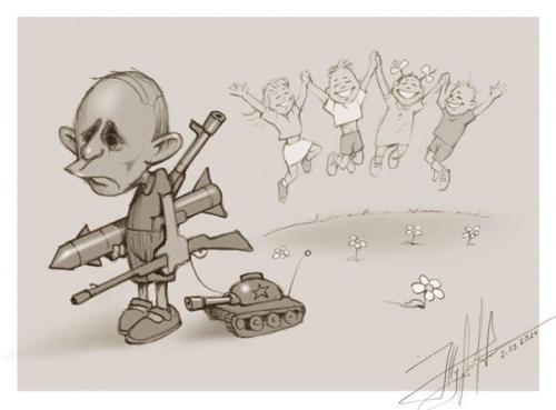 Karikatur von Jurij Shurawel