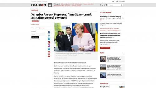 Alle Sünden von Angela Merkel: Herr Selenskyj, nehmen Sie Ihre rosarote Brille ab!