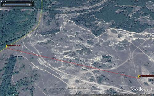 Beweis des direkten Artilleriebeschusses von ukrainischen Stellungen im Bereich von Stanyzcja Luhanska (Gebiet Luhansk) vom russischen Territorium Anfang September 2014