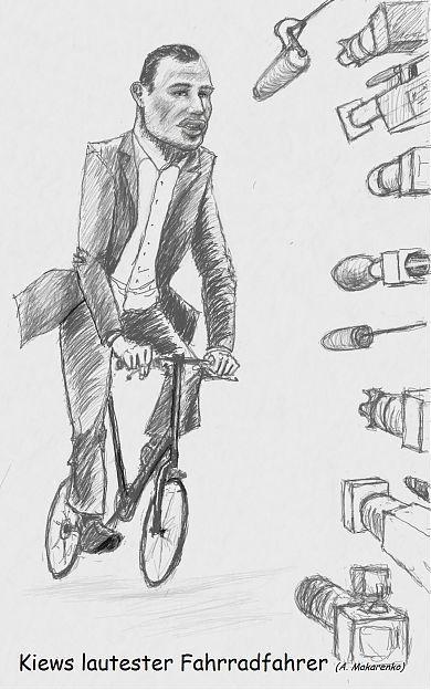 Witalij Klitschko als Fahrradfahrer