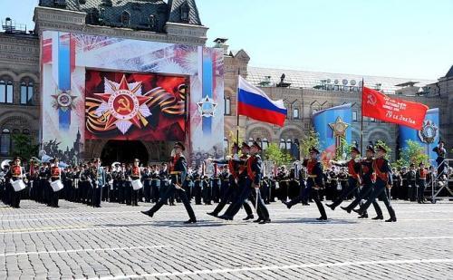Parade zum Tag des Sieges in Moskau auf dem Roten Platz am 9.Mai 2016