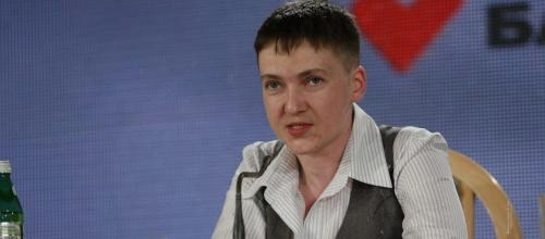 Nadija Savčenko auf ihrer ersten Pressekonferenz nach ihrer Freilassung