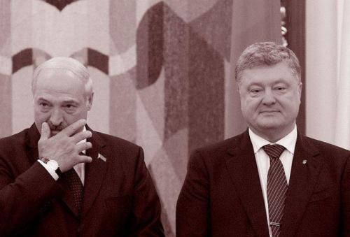 Alexander Lukaschenko und Petro Poroschenko