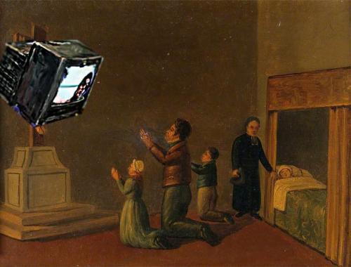 Anbetung des Fernsehapparates