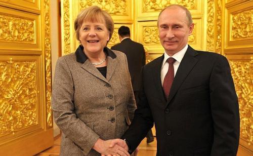 Angela Merkel und Wladimir Putin 3 - kremlin.ru