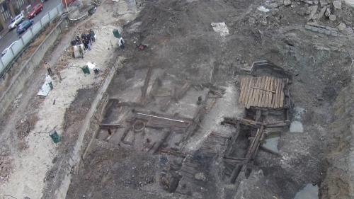 Die Ausgrabungen am Post-Platz in Kiew