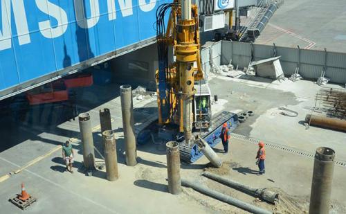 Baustelle Flughafen Boryspil