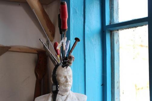 Chruli an der Sula: Lenin als Werkzeughalter
