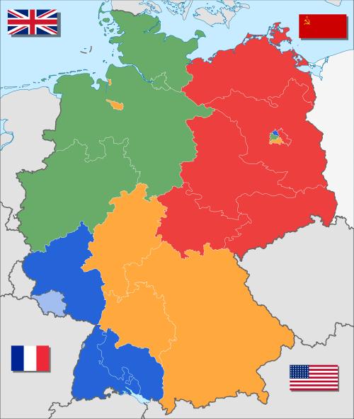 Deutschland Besatzungszonen 8.Juni 1947 - 22.April 1949