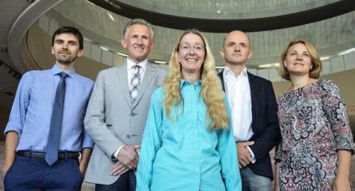 Die geschäftsführende Gesundheitsministerin Uljana Suprun und ihr Team