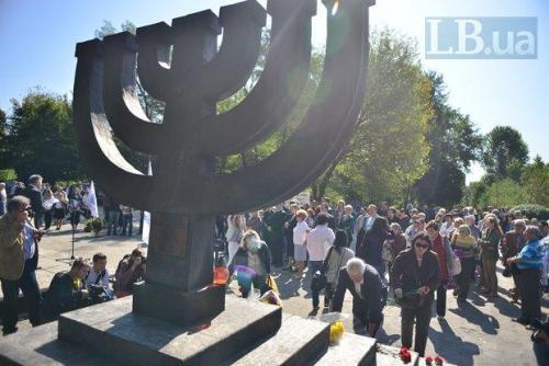 Die jüdische Frage in der Ukraine - Menorah in Babij Jar
