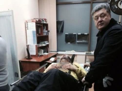 Dmytro Bulatow und Petro Poroschenko
