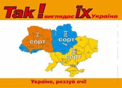 Dreiteilung der Ukraine - Propaganda gegen Wiktor Juschtschenko 2004