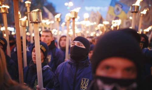 Fackelmarsch in Kiew