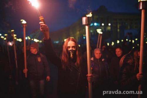 Fackelmarsch in Kiew 28