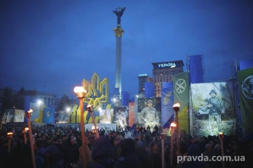 Fackelmarsch in Kiew 29